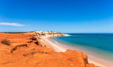 australie orange plage mer bleu roche septembre