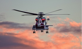 helicoptere helices ciel rose nuages