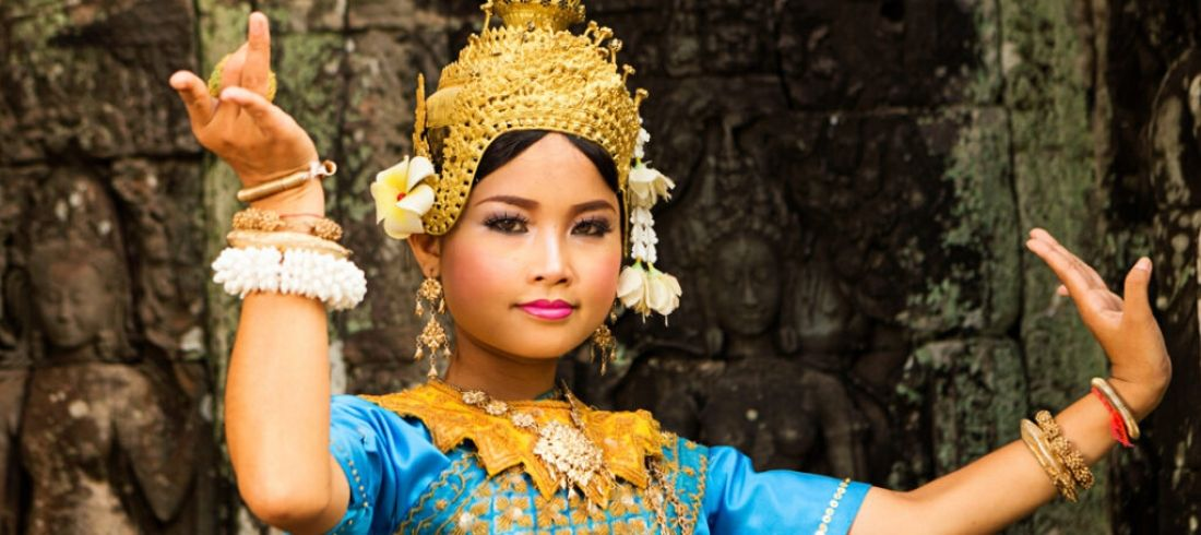Danseuse Apsara aux temples d'Angkor - Voyage Cambodge