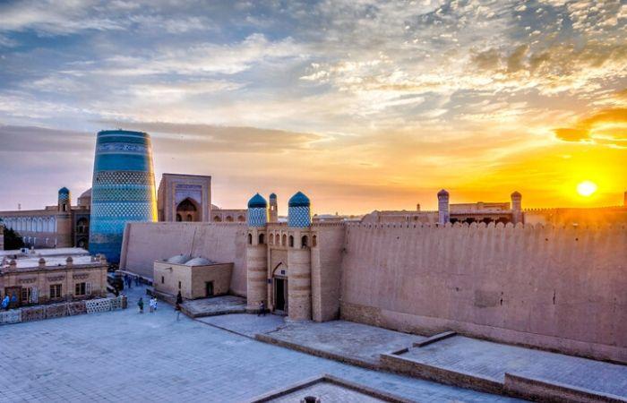 Coucher de soleil Khiva Boukhara Samarkande