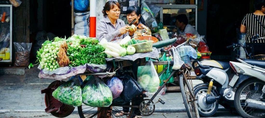 Scène de rue Hanoï
