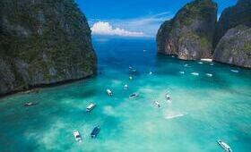maya bay bateau plage reve paradis ile