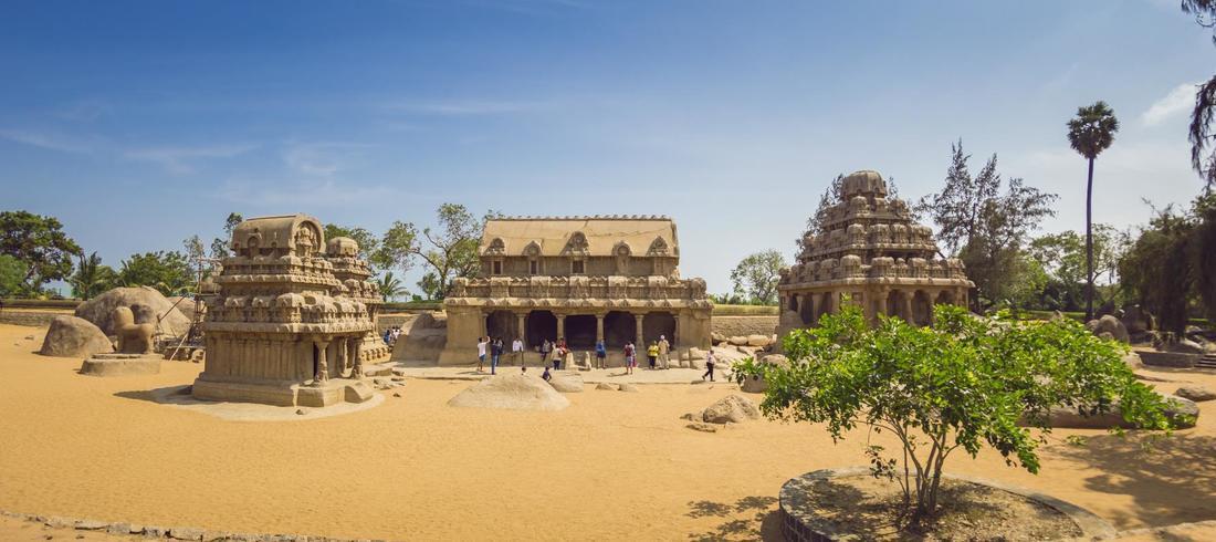 Cinq Rathas à Mahabalipuram - voyage Inde