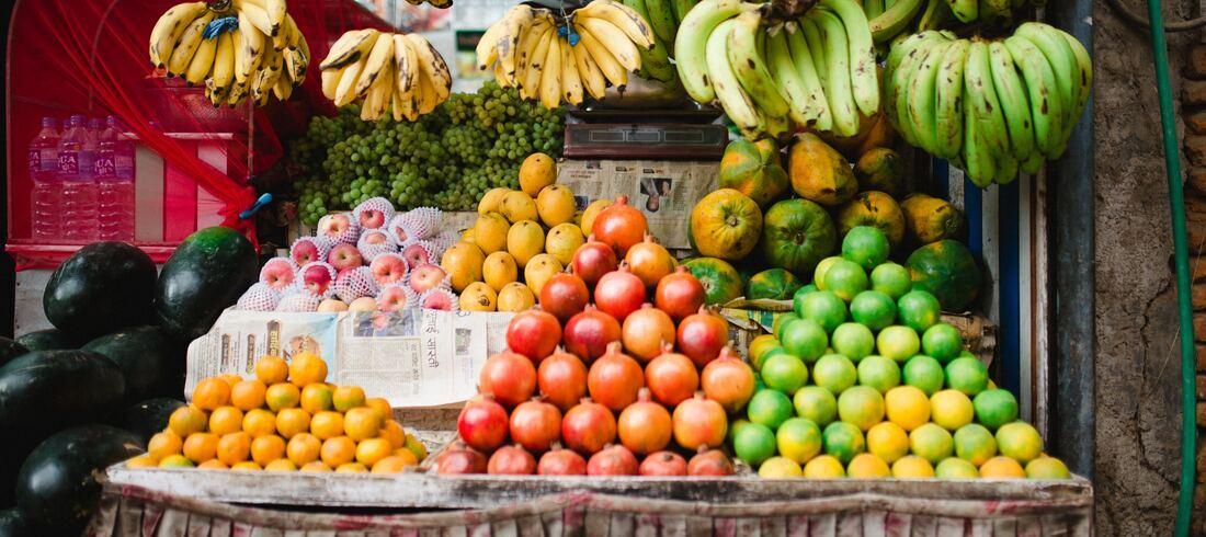 Marché aux fruits - voyage Népal