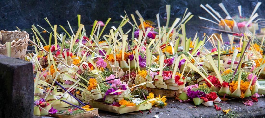Offrandes Tirta Empul Bali