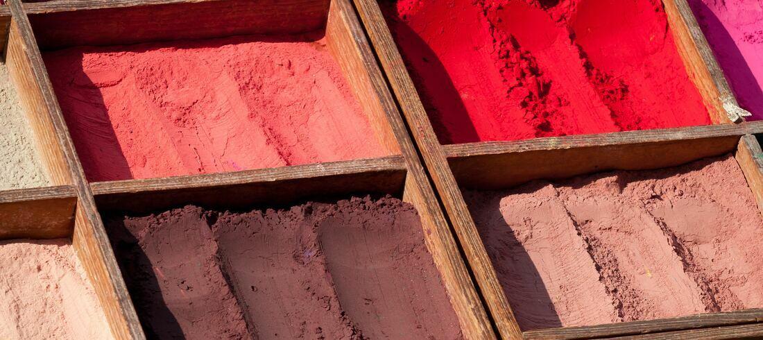 Pigments de couleurs - voyage Népal