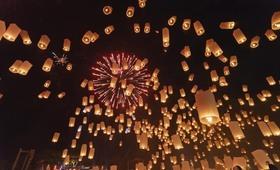 Lâcher de lanternes - voyage Asie