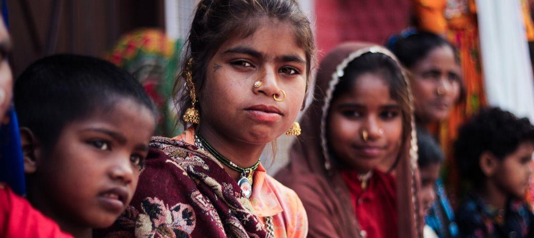 Enfants école rue Jaipur Inde - Asie Online