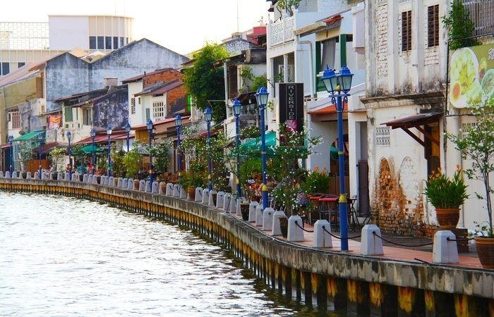 Rivière Malacca vieille ville