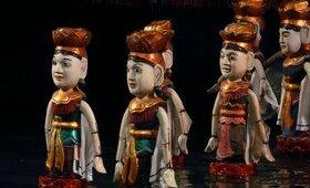 Spectacle de marionnettes sur l'eau - voyage Asie