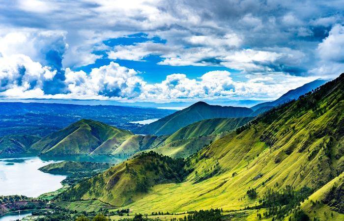 Paysage nature verdoyant Sumatra Indonésie