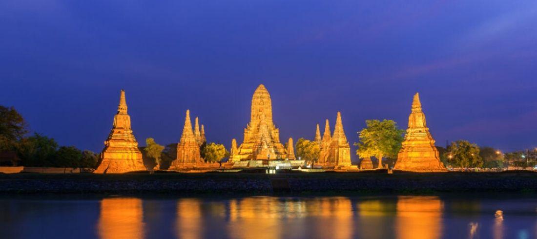 Ayutthaya de nuit - voyage Thailande
