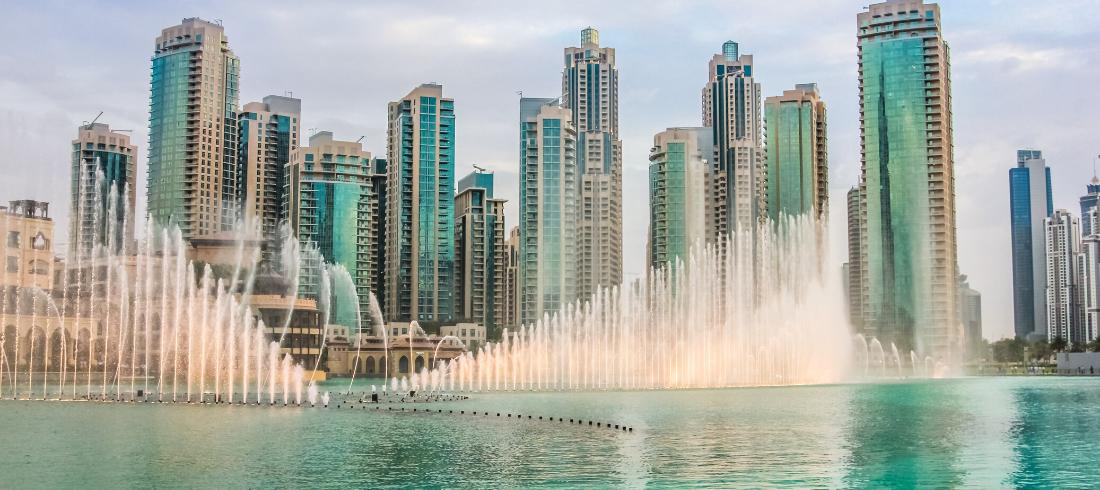 Les Fontaines du Burj Khalifa - voyage Emirats Arabes Unis