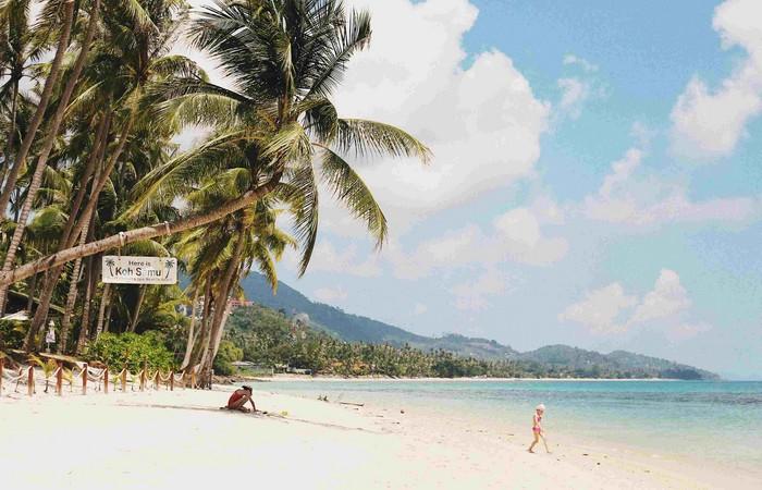 koh samui thailande plage eau turquoise palmiers
