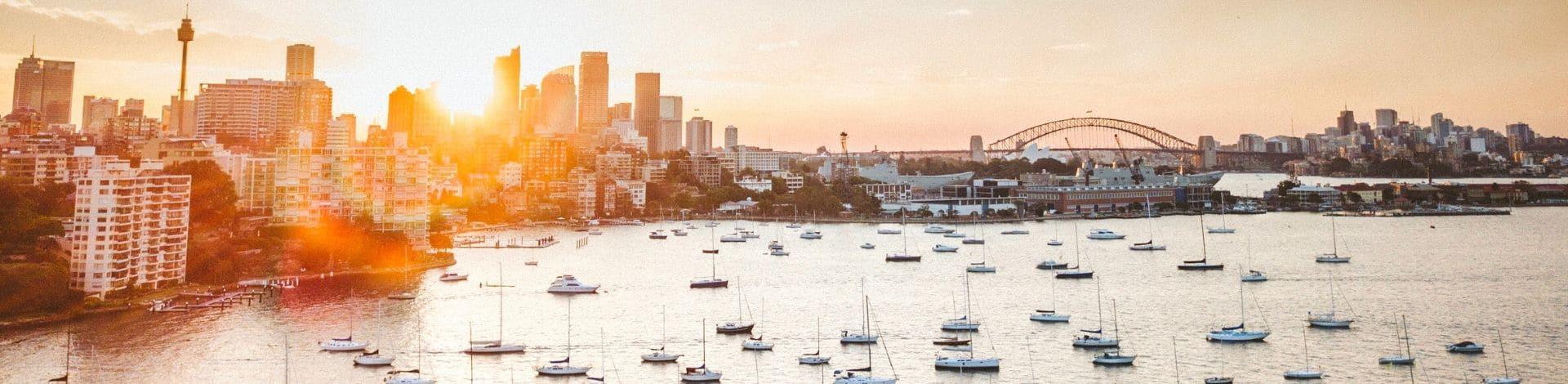 Port Sydney lever soleil