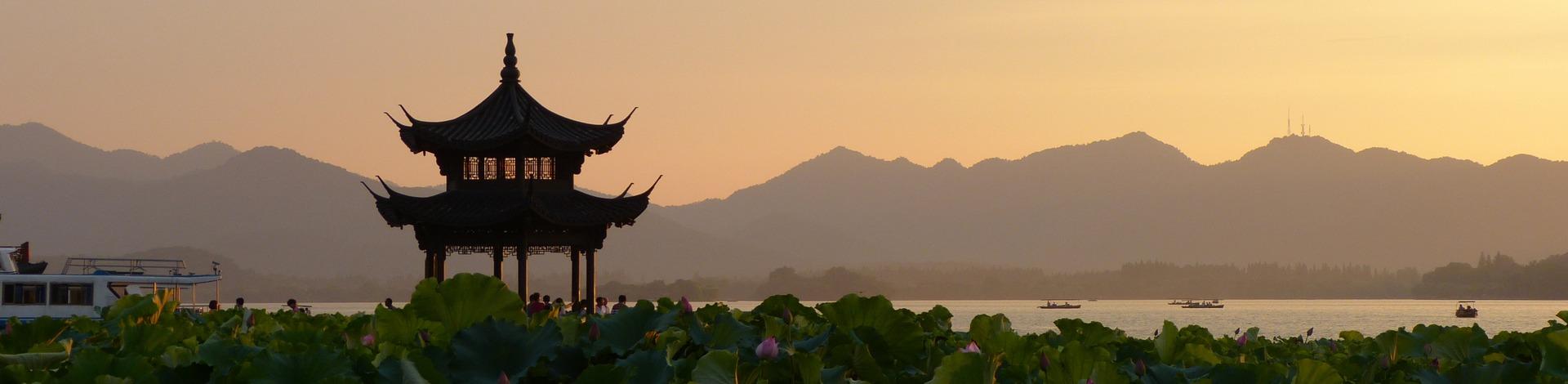 Coucher soleil palais été Pékin - Asie Online