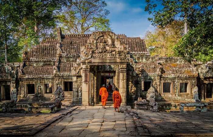 Angkor bonzes temple Unesco