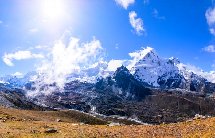 Annapurna Everest montagnes neige sommets Himalaya