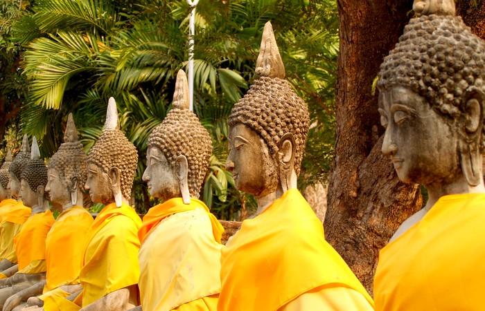 Ayutthaya Bouddhas Unesco site archéologique