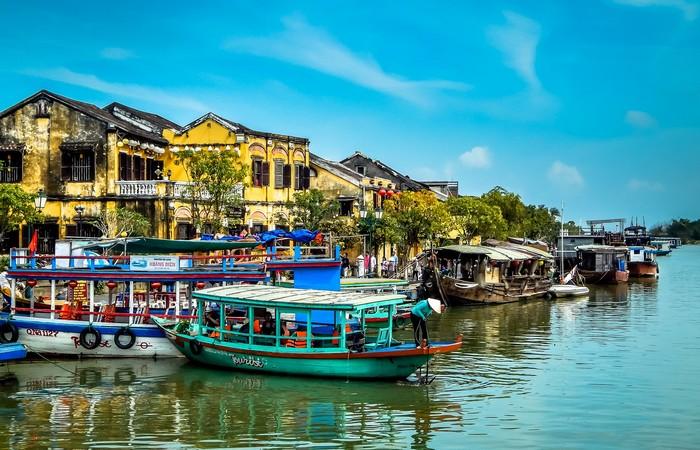Village Hoian Thu Bon bateaux