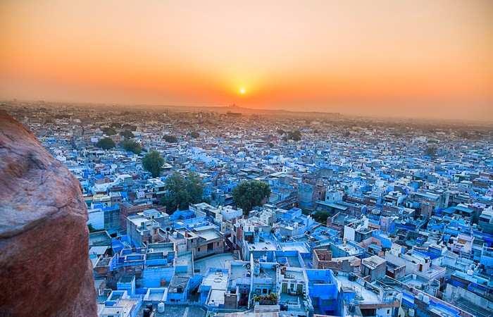 Mehrangarh Fort Jodhpur ville bleue Rajasthan