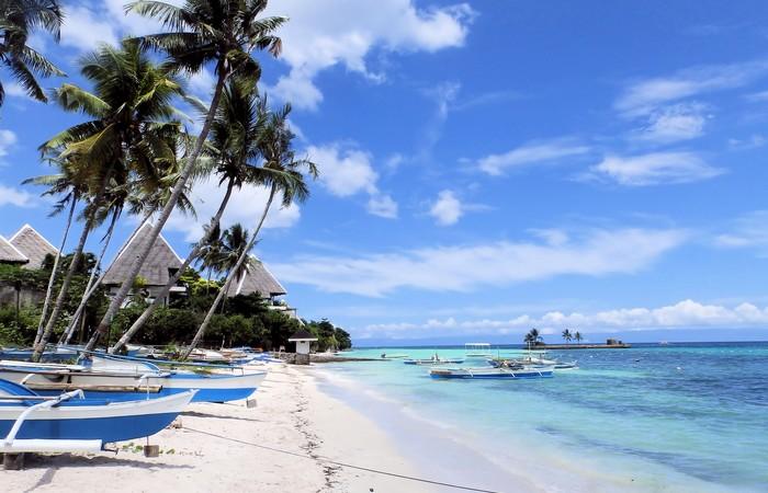 Panglao Bohol plage paradisiaque banca sable fin blanc
