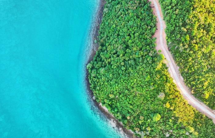 Plage Koh Yao Yai Noi végétation eau turquoise mer