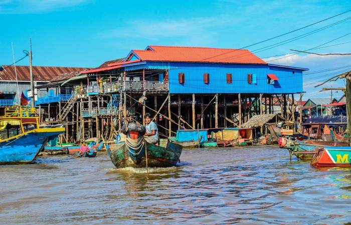 Cambodge lac tonle sap Kampong Phluk Khleang