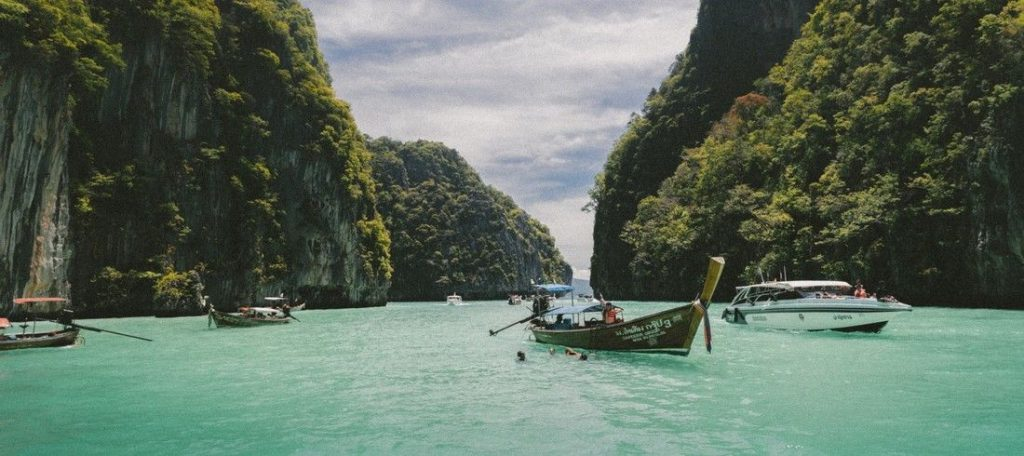 thailande eau turquoise bateau