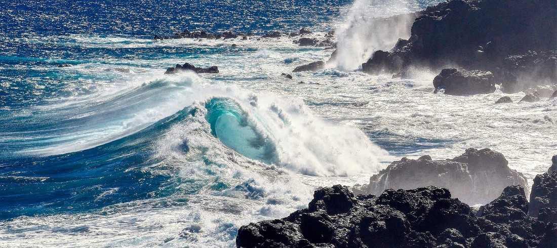 Mer côtes Réunion vagues