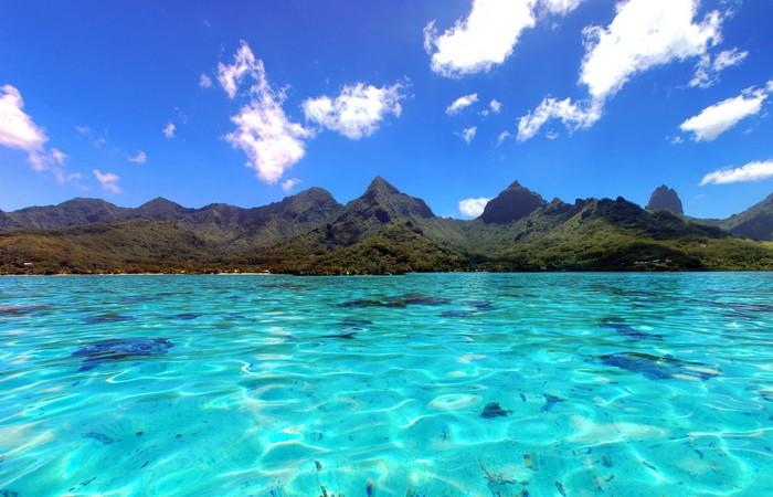 Moorea eau turquoise Tahiti Polynésie paradis