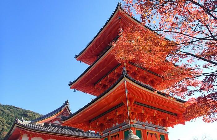 Temple Kyoto automne Japon